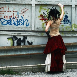 (note: I am not actually creating graffiti in this picture!)