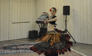 Me performing an American Tribal Style® Belly Dance solo(photo by Curtis Claspell)